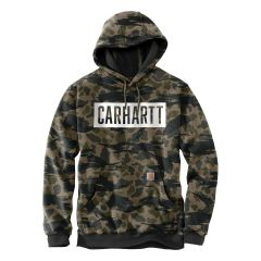 Carhartt Loose Fit Midweight Hooded Camo Graphic Sweatshirt